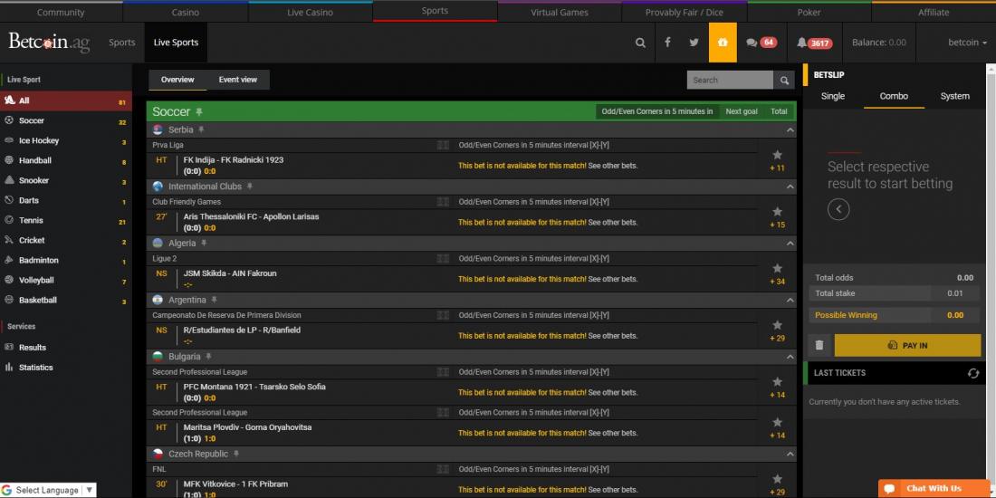 bitcoin live betting sports